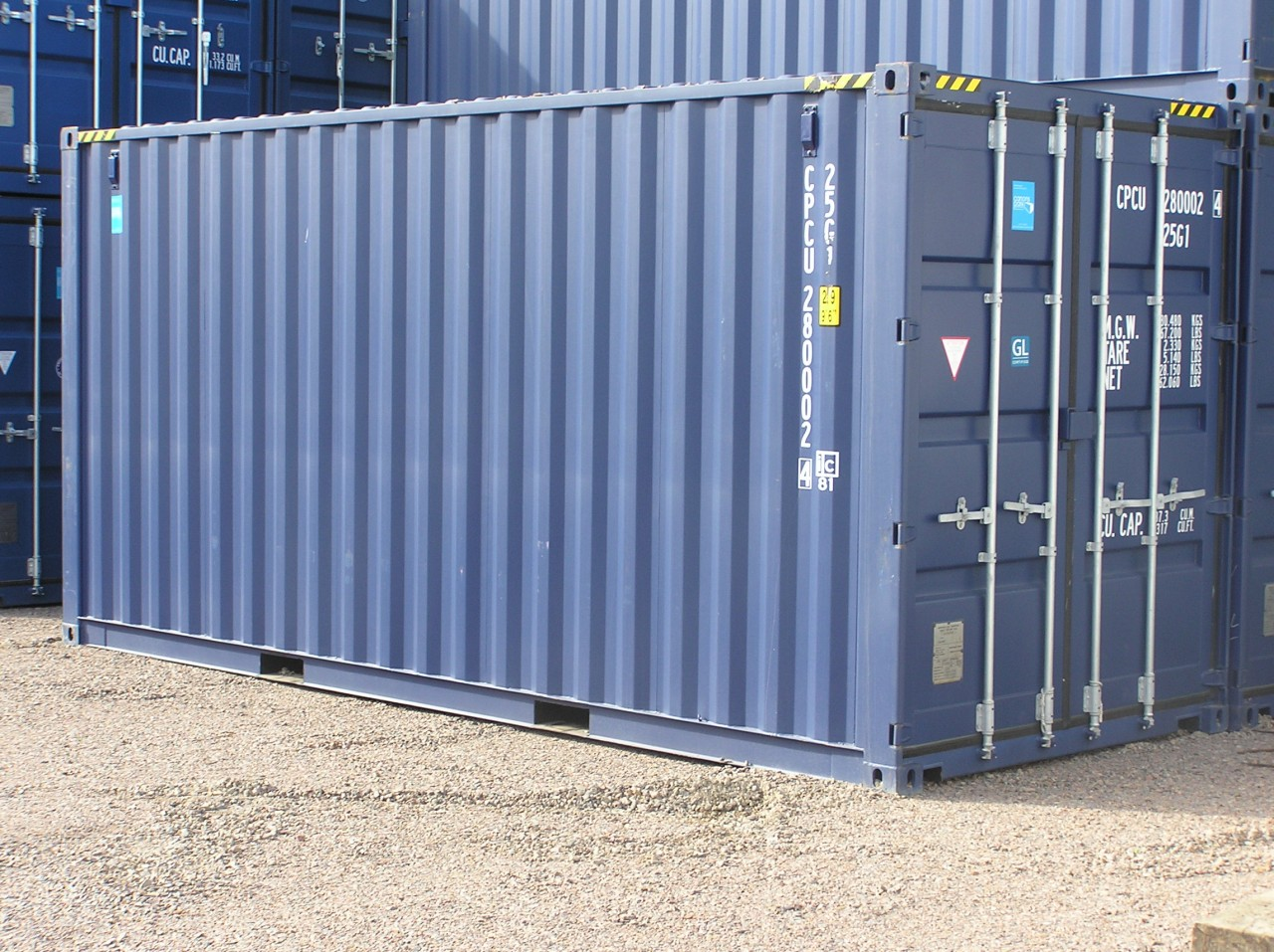 Ny 20ft extra hög container